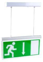 PRO ELEC PEL00580  Led Emergency Exit Box Maint Ceiling Mnt